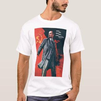 Camiseta URSS, ruso, soviet, propaganda, Lenin
