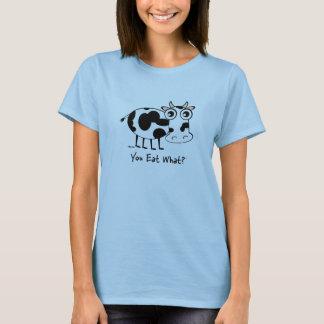 Camiseta ¿Usted come lo que? Vaca