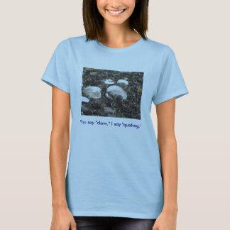"Camiseta Usted dice la ""almeja,"" digo la ""mercenaria."""