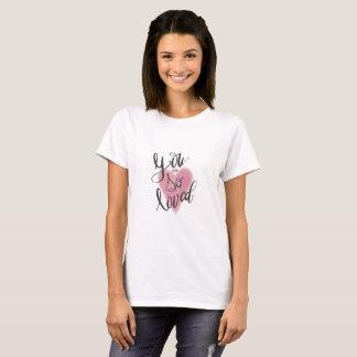 Camiseta Usted es así que amado