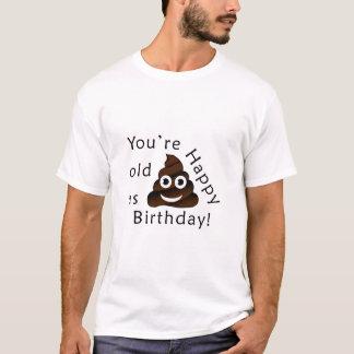 Camiseta Usted es viejo como… feliz emoji divertido del