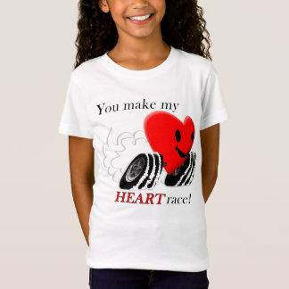 Camiseta ¡Usted hace mi raza del corazón!