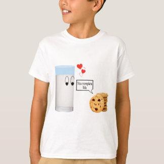 Camiseta Usted me termina leche y las galletas