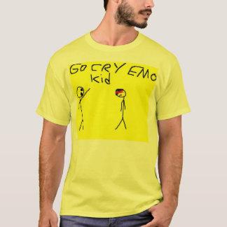 Camiseta va el niño del emo del grito