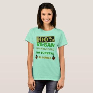 Camiseta Va la acción de gracias del vegano. ¡Ningunos