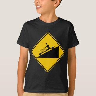 Camiseta Va la muestra de la carretera de la zona de la