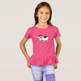 Camiseta Vaca del dibujo animado con el arco púrpura