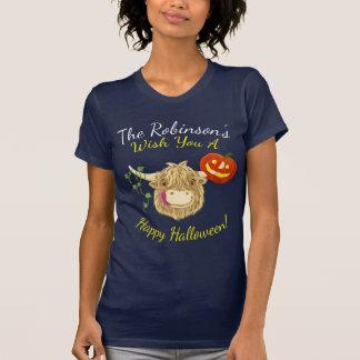 Camiseta Vaca pequenita Halloween de la montaña de Hamish