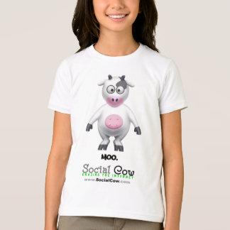 Camiseta Vaca social - retrato de la vaca -