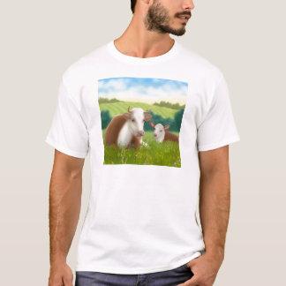Camiseta Vaca y becerro de Hereford