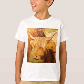 Camiseta Vacas de la montaña, ganado escocés