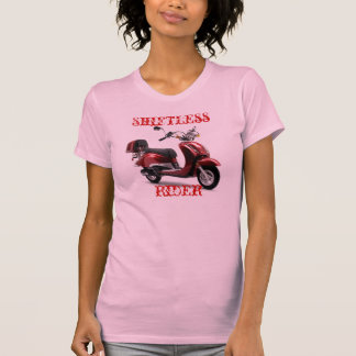 Camiseta vaga de la vespa del jinete de las