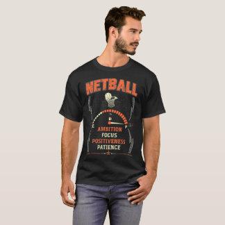 Camiseta valiente del Netball del foco de la