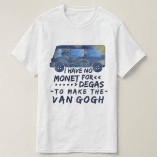Camiseta Van Gogh divertido Monet desgasifica el retruécano