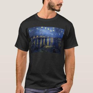 Camiseta Van Gogh: Noche estrellada sobre el Rhone