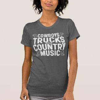 Camiseta Vaqueros y música country de los camiones