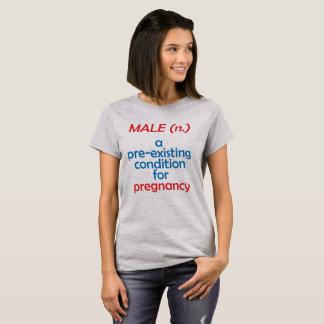 Camiseta varón - condición preexistente para el embarazo