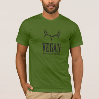 Camiseta Vegano, nativo americano para el cazador malísimo