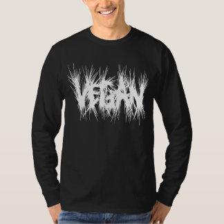 Camiseta Vegano que pone letras a blanco crujiente del