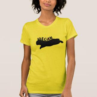 Camiseta Vegano que salta el conejito