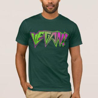 Camiseta Vegano rosado y verde