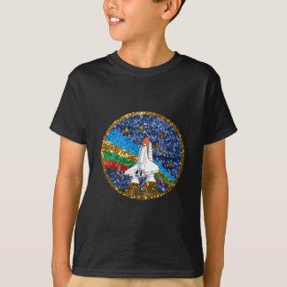 Camiseta vehículo espacial de la lentejuela