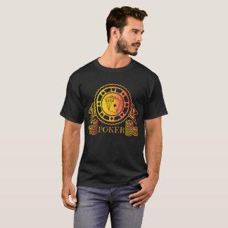 Camiseta Veintiuna fresca del juego de tarjeta del casino