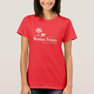 Camiseta Ventilador de Oveja Dudoso T-shirt oscuro