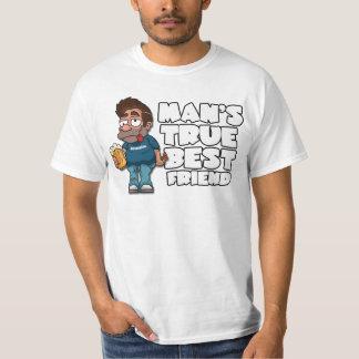Camiseta verdadera del valor del mejor amigo del