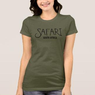 Camiseta Verde caqui de Suráfrica del safari