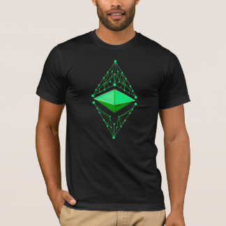Camiseta Verde clásico de Ethereum (ningún texto)