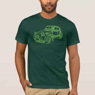Camiseta Verde de Citroen 2CV del vintage