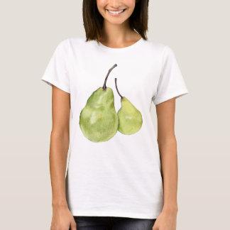 Camiseta verde de dos señoras de las peras