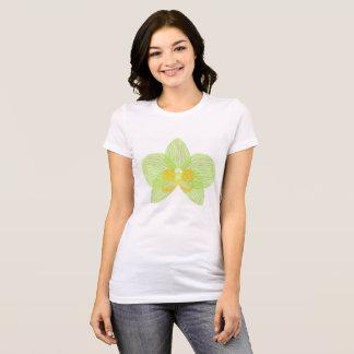 Camiseta verde de la orquídea del phalaenopsis