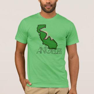 Camiseta verde de los individuos del estado de Los