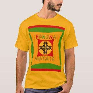 Camiseta Verde de oro rojo del color de Hakuna Matata Rasta