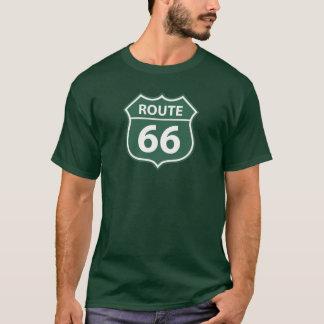 Camiseta VERDE del ESCUDO de la RUTA 66 de los