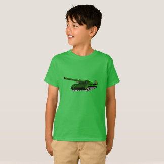 Camiseta verde del tanque para los muchachos