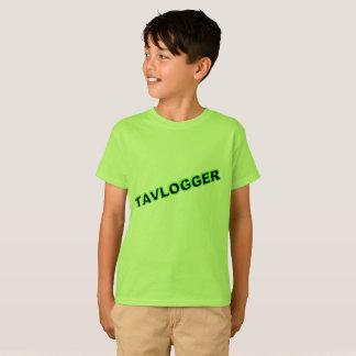 camiseta verde del tavlogger de los niños