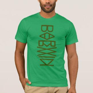 Camiseta verde del tótem de Charles Darwin