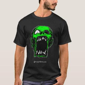 Camiseta verde del zombi