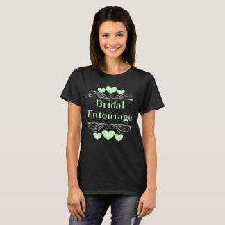 Camiseta Verde nupcial de Tee~Seafoam del corazón de la