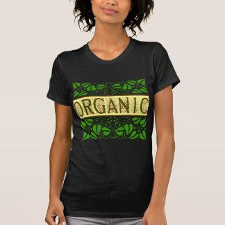 Camiseta verde orgánica del lema