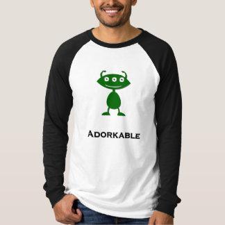 Camiseta Verde triple de Adorkable del ojo