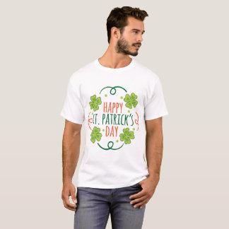 Camiseta Verde y día feliz anaranjado de las palmaditas del