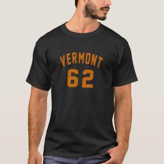 Camiseta Vermont 62 diseños del cumpleaños