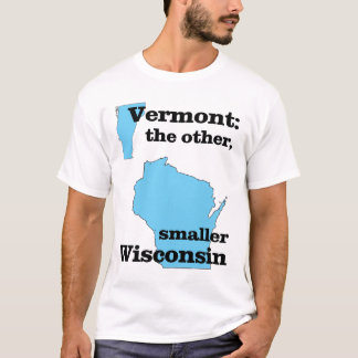 Camiseta Vermont: el otro, un Wisconsin más pequeño