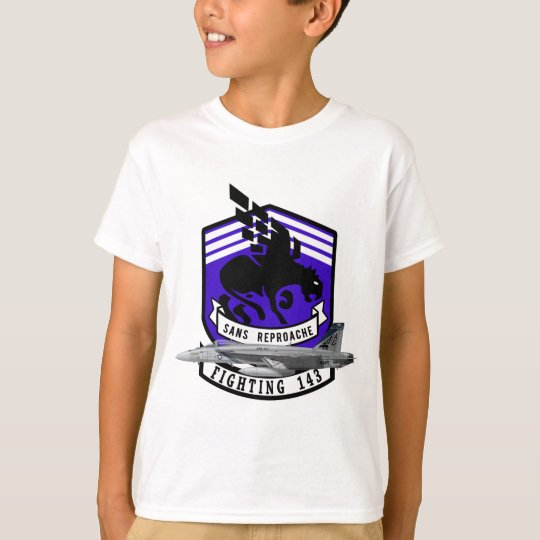 """Camiseta VFA-143 """"Pukin persigue"""" el avispón F-18"""