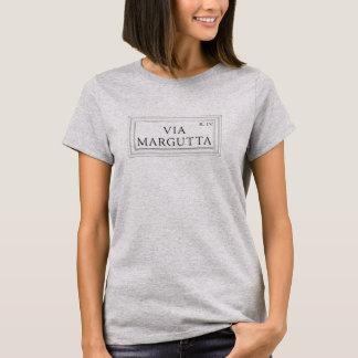 Camiseta Vía Margutta, placa de calle de Roma