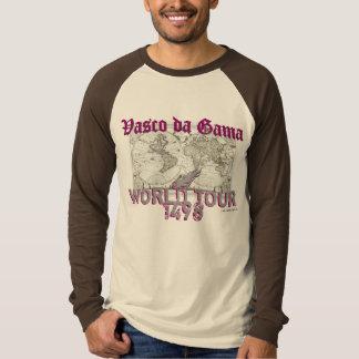 Camiseta Viaje del mundo de Vasco da Gama (mapa)